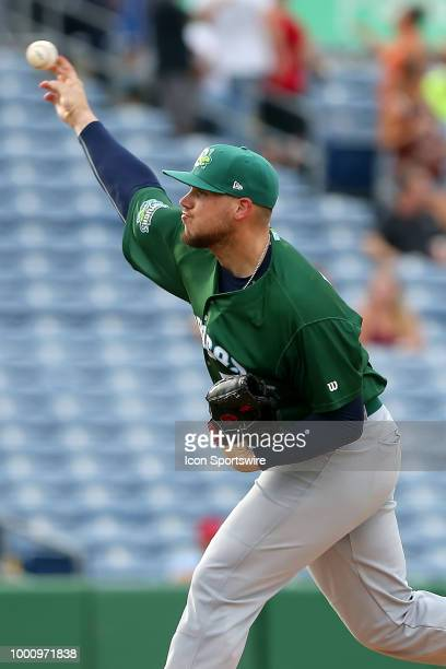 Rookie Davis of the Tortugas delivers a pitch to the plate during the Florida State League game between the Daytona Tortugas and the Clearwater...