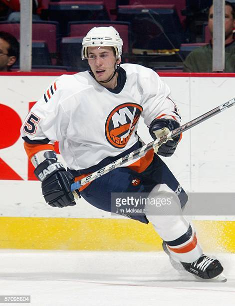 Rookie Jeff Tambellini of the New York Islanders skates against the New Jersey Devils during their game on March 14 2006 at Continental Airlines...