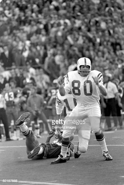 Rookie kicker Jim O'Brien of the Baltimore Colts celebrates after kicking the winning 32yard field goal with 05 remaining in Super Bowl V against the...