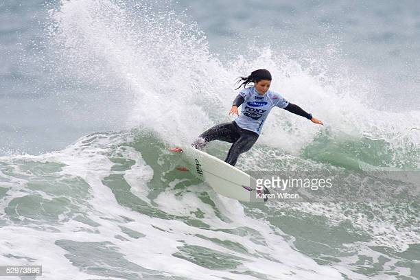 Rookie WCT surfer Rebecca Woods of Copacabana Beach NSW Australia in action during the Roxy Jam UK Presented by Samsung Association of Surfing...
