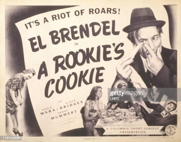 A Rookie's Cookie poster US poster El Brendel at table from left Adele Mara lloyd Bridges El Brendel 1943