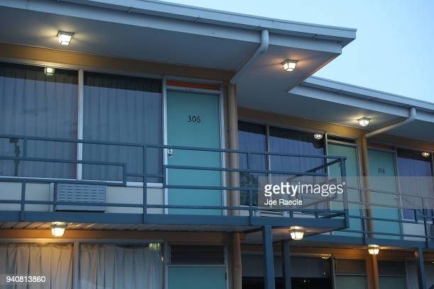Room 306 at the Lorraine Motel is seen where Dr Martin Luther King Jr was murdered on the balcony and is now part of the complex of the National...