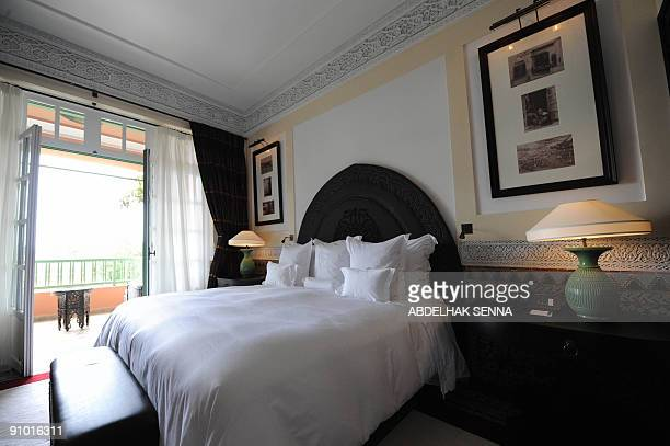 A room at the legendary Marrakesh hotel La Mamounia is seen on September 19 2009 before its reopening on September 27 following a threeyear...