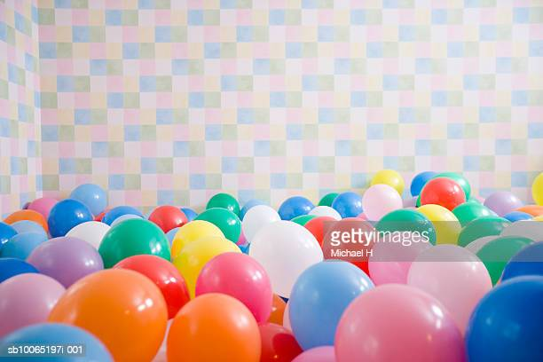Room filled up with balloons