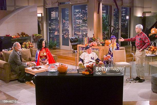 FRASIER Room Full of Heroes Episode 6 Aired 10/30/01 Pictured Kelsey Grammer as Dr Frasier Crane Peri Gilpin as Roz Doyle John Mahoney as Martin...