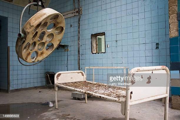 A room in an old abandoned hospital, Beelitz-Heilstaetten, Germany