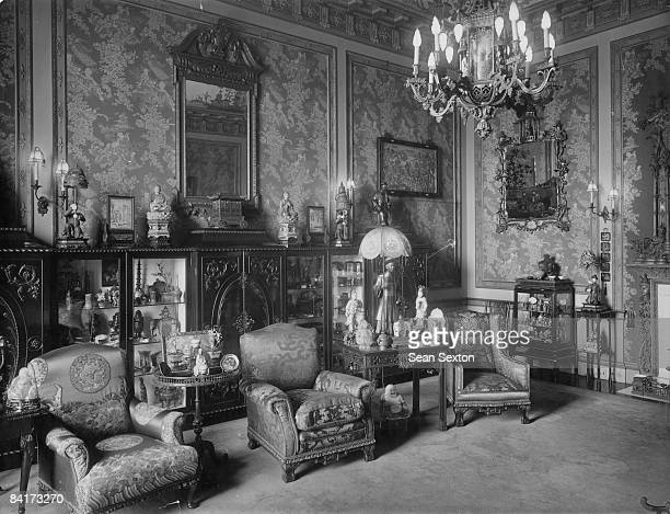 A room in Buckingham palace decorated in the Oriental style circa 1920