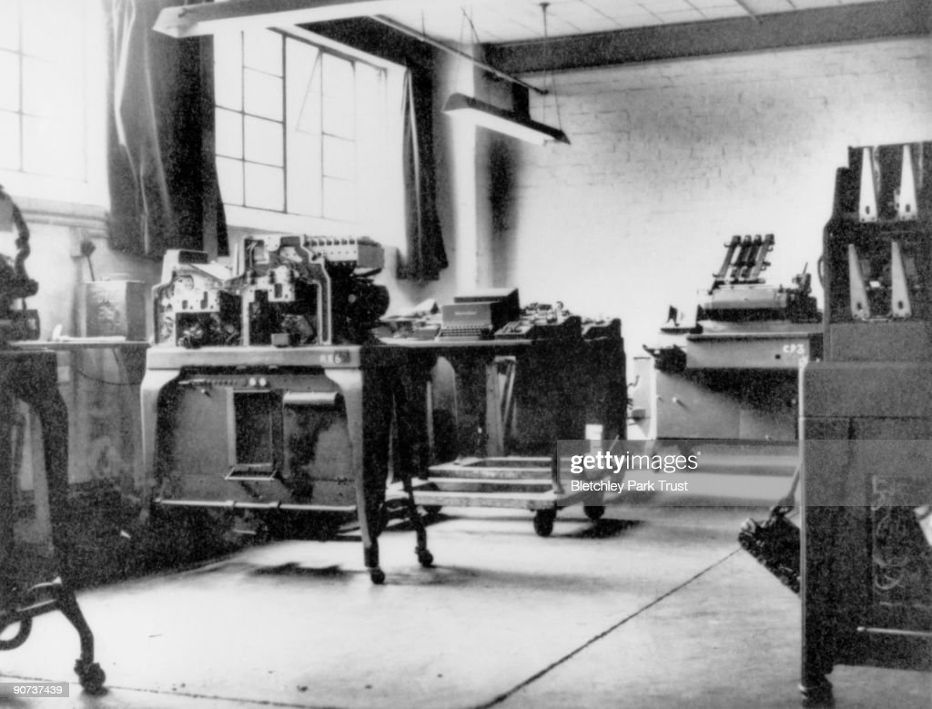 Code-breaking equipment at Bletchley Park, 1943. : News Photo