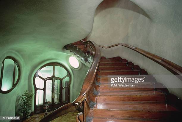 room in casa batllo, barcelona - casa stockfoto's en -beelden