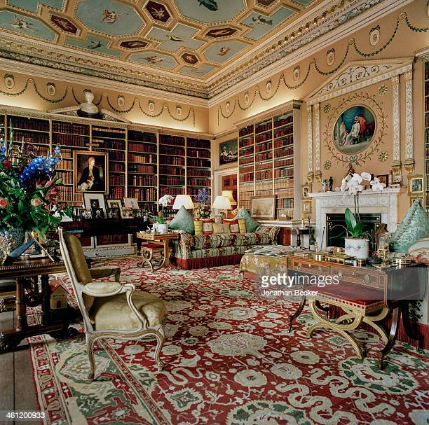A room in Charles Henry Gordon Lennox's estate Goodwood is photographed for Vanity Fair Magazine on June 27 2012 in Chichester England