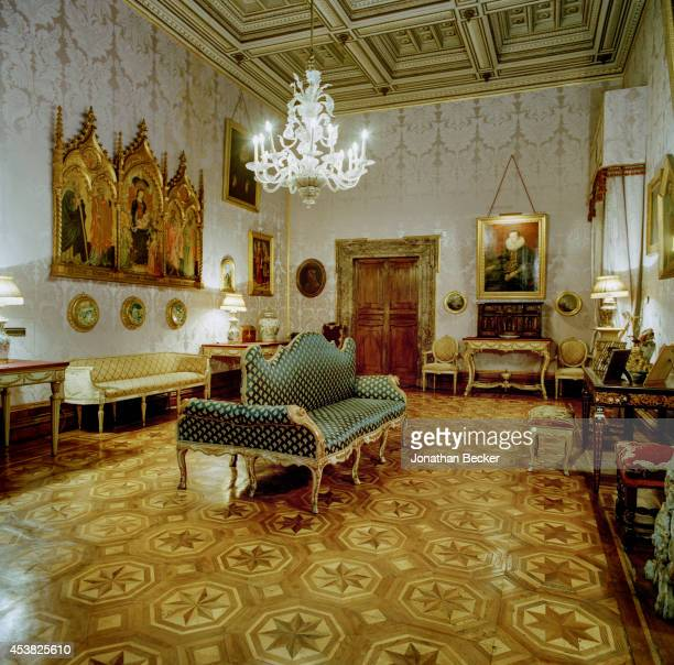 A room in Palazzo Doria Pamphilj is photographed for Vanity Fair Magazine on April 26 2011 in Rome Italy