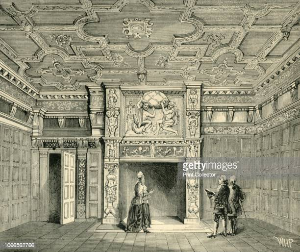 Room in Sir Paul Pindar's House' Interior of a 17th century building large reception room with fine moulded plaster ceilings an elaborate...