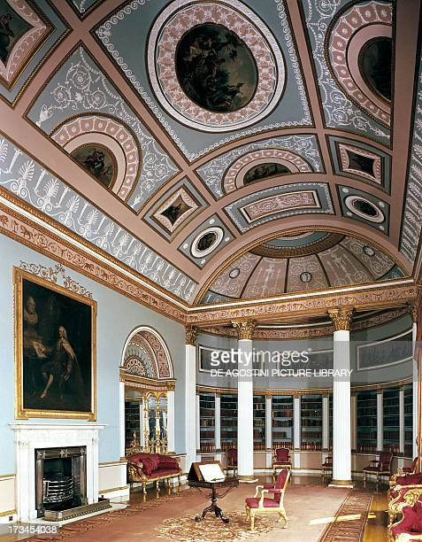 Room in the library Kenwood House by Robert Adam London England United Kingdom