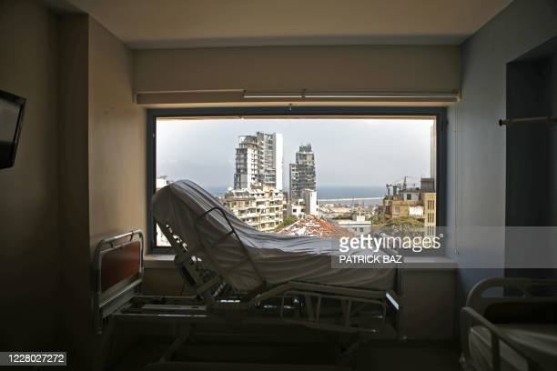 Room in the Saint George hospital in Beirut's neighbourhood of Ashrafieh remains empty of patients on August 13 more than a week after a massive...