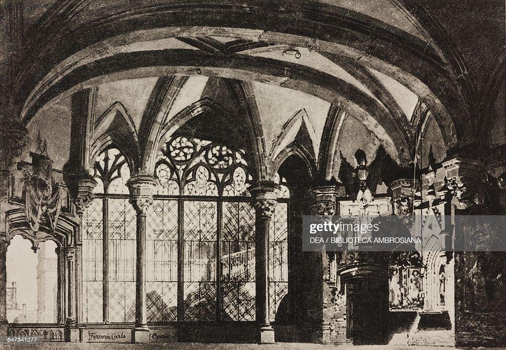 Room, Tower of London, scene of opera Maria Tudor : News Photo