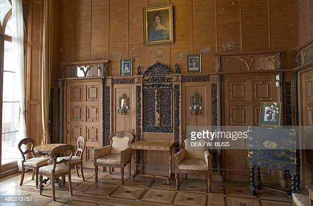 A room in Vorontsov Palace 18281846 designed by Edward Blore Alupka near Yalta Crimea Ukraine