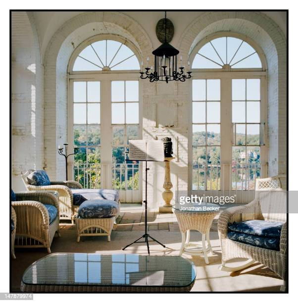 Room inside Chastellux, designed by McKim, Mead & White is photographed for Town & Country Magazine on September 8, 2011 in Tuxedo Park, New York....