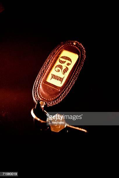A room key close-up.