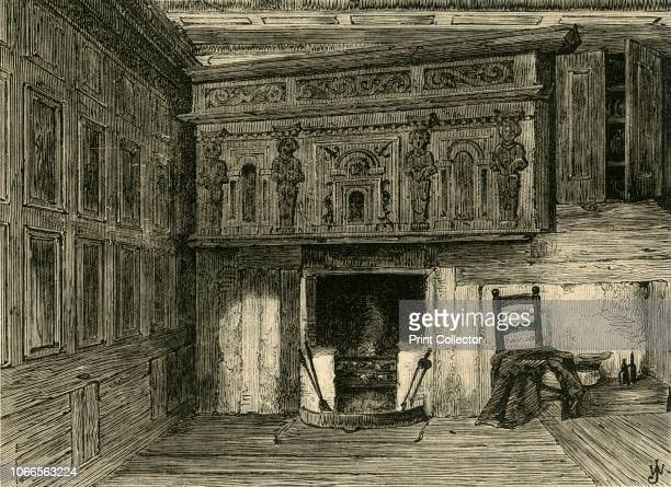 Room of a House in Fulwood's Rents ' House near Gray's Inn in London 'The apartment was entirely panelled with oak the mantelpiece being carved in...