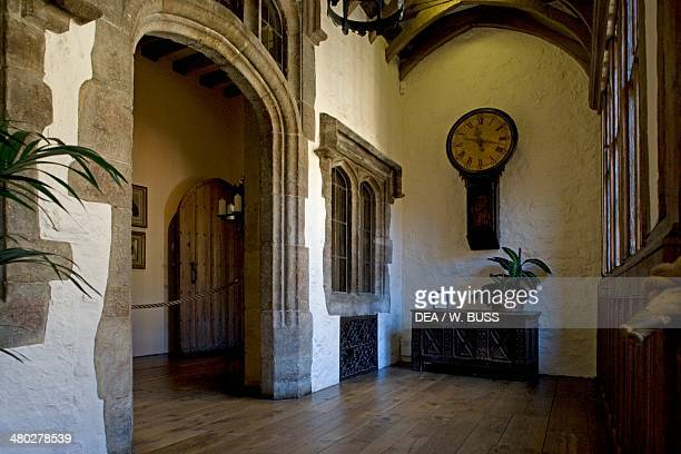 A room of Leeds castle built between 12th16th century in Romanesque and Renaissance style Maidstone Kent United Kingdom