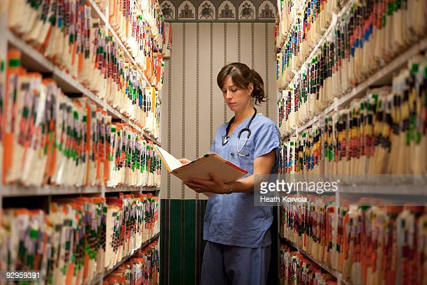 room of medical records. - medical building stock photos and pictures