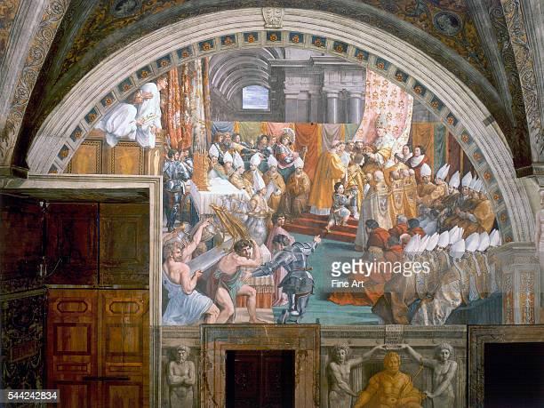 Room of the Fire in the Borgo one of the four Stanze di Raffaello Vatican Palace Rome Fresco 1508/91520