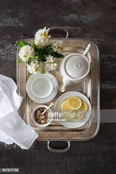 Room Service, Tea Tray with Lemons