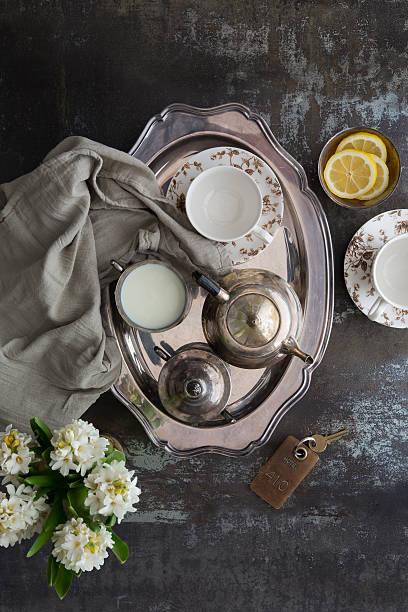 Room Service, Tea Tray With Milk And Lemons Wall Art