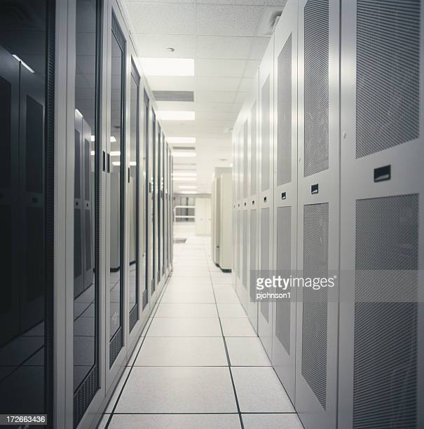 A room that is full of servers