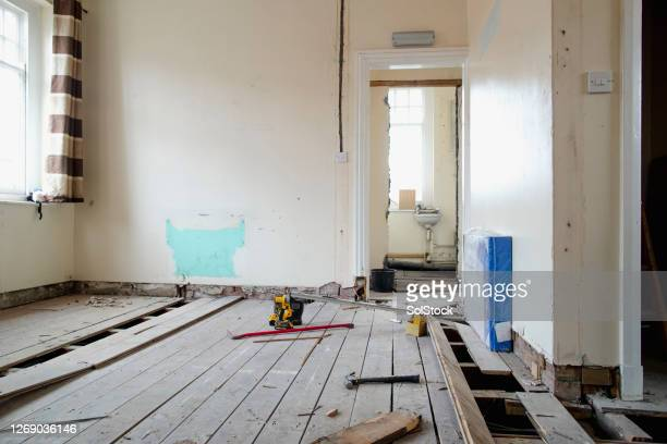 room under renovations - construction industry stock pictures, royalty-free photos & images