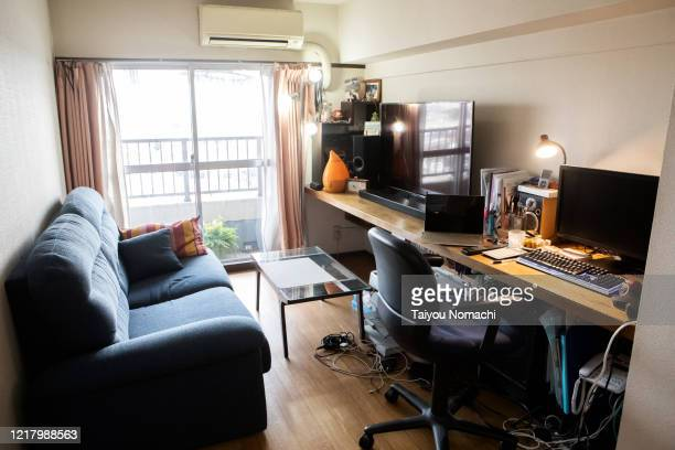 a room where no one is gone after work - humidifier stock pictures, royalty-free photos & images