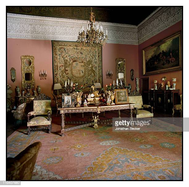 A room with a tapestry of S XVI of the Marquis of Osera is photographed in the Palacio de Duenas for Vogue Espana on March 1517 2010 in Seville Spain...