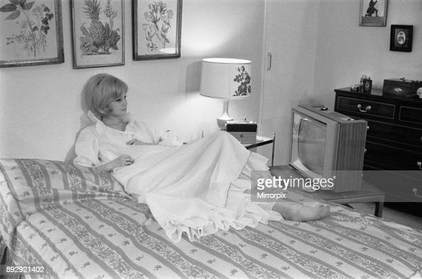 Room with a view Model Celia Hammond is pictured in the National Radio Show's 'Living in Tune' exhibition organised by Fleetway magazine 'Home' 22nd...