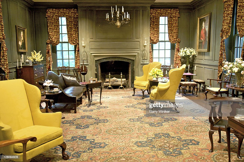 Room With American Furniture Former Country House Of Henry Francis Du Pont Winterthur Delaware Stock Photo