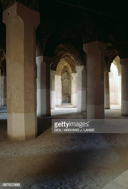 A room with columns in the Jameh Mosque Isfahan Iran 12th century