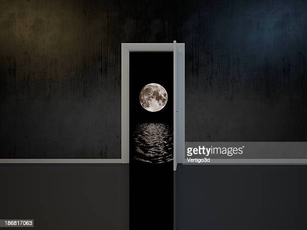 Room with door into the dreams
