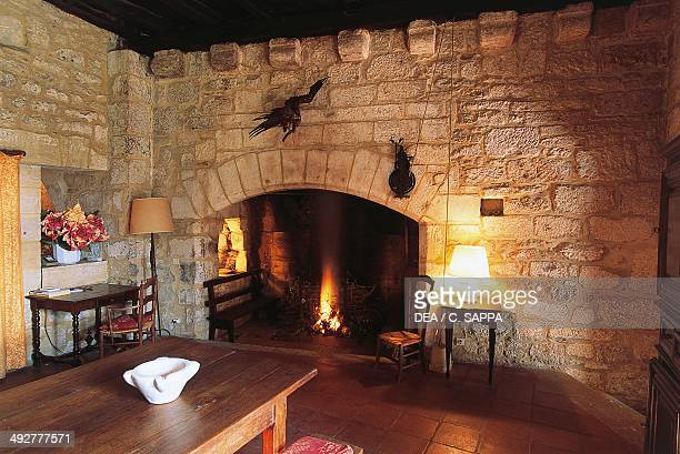 Room with fireplace Chateau of la Faye PoitouCharentes France
