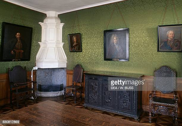 Room with fireplace Summer Palace Saint Petersburg Russia 18th century