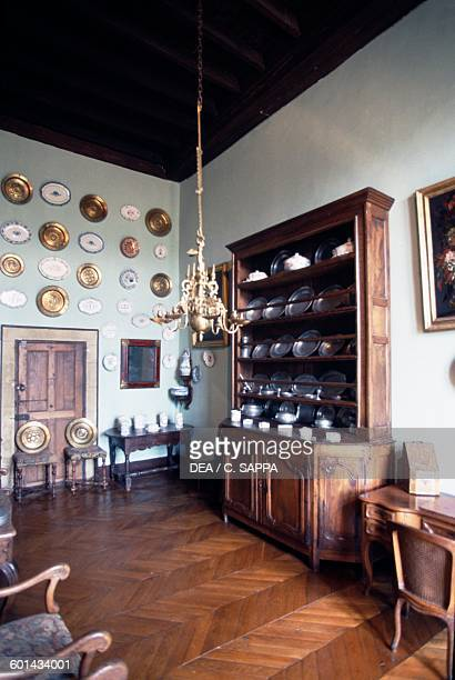Room with furniture Chateau de CastelnauBretenoux MidiPyrenees France 11th17th century
