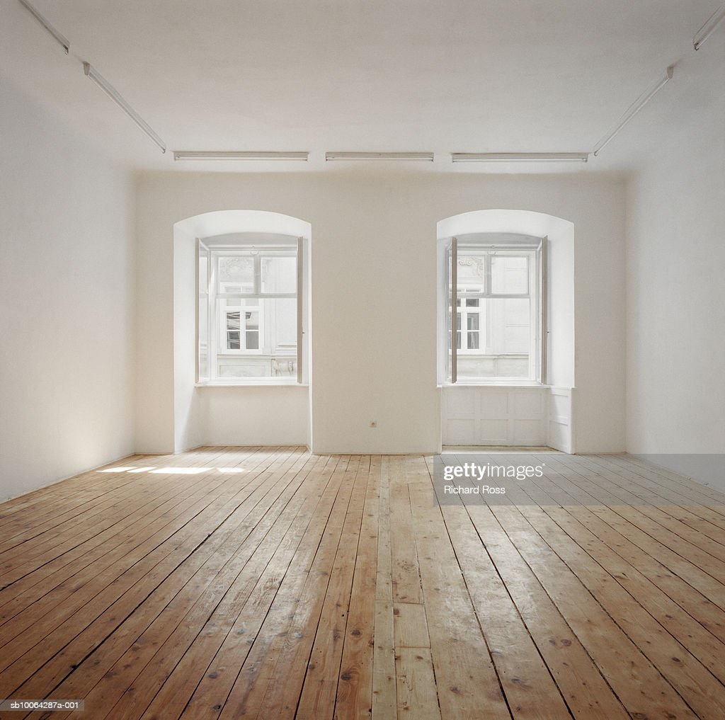 Room with wooden flooring : Stock Photo
