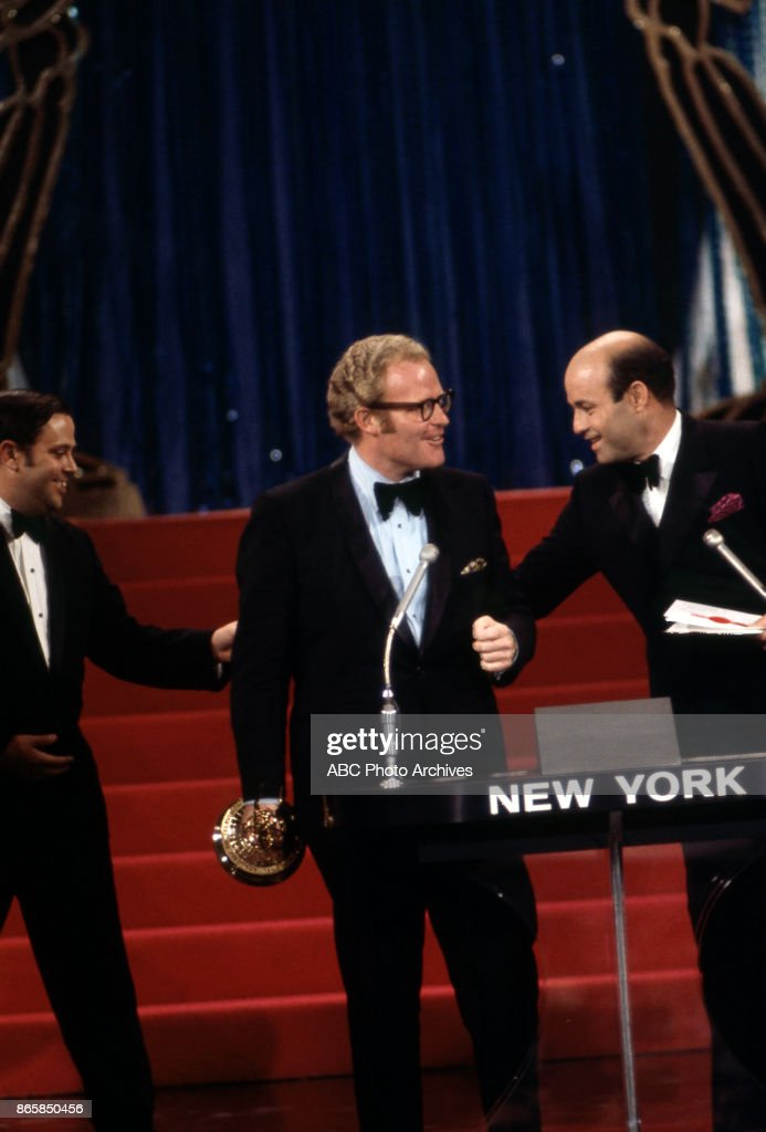 Roone Arledge and Joe Garagiola at The 22nd Annual EMMY Awards at the Century Plaza Hotel, Los Angeles, CA, June 7, 1970.