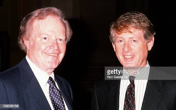 Roone Arledge and Ted Koppell during Alfred I Dupont Awards in New York City January 25 1990 at Columbia University in New York City New York United...