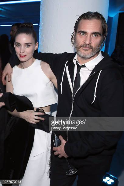 Rooney Mara and Joaquin Phoenix attend Michael Muller's HEAVEN presented by The Art of Elysium on January 5 2019 in Los Angeles California