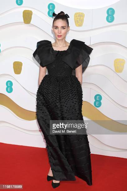 Rooney Mara arrives at the EE British Academy Film Awards 2020 at Royal Albert Hall on February 2, 2020 in London, England.