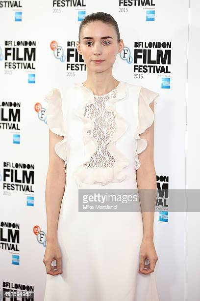 Rooney Mara attends a photocall for 'Carol' during the BFI London Film Festival at May Fair Hotel on October 14 2015 in London England