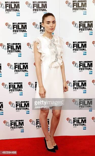 Rooney Mara attends the 'Carol' photocall during the BFI London Film Festival at the Soho Hotel on October 14 2015 in London England