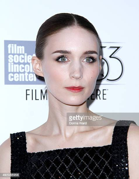 Rooney Mara attends the Carol screening during the New York Film Festival at Alice Tully Hall Lincoln Center on October 9 2015 in New York City