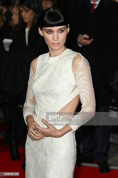 Rooney Mara attends 'The Girl With The Dragon Tattoo' world premiere at Odeon Leicester Square on December 12 2011 in London England