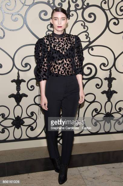 Rooney Mara attends the Givenchy show as part of the Paris Fashion Week Womenswear Spring/Summer 2018 at on October 1 2017 in Paris France