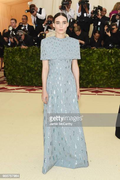 Rooney Mara attends the Heavenly Bodies Fashion The Catholic Imagination Costume Institute Gala at The Metropolitan Museum of Art on May 7 2018 in...